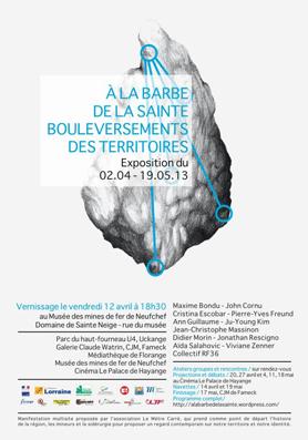 Viviane Zenner exposition, Neufchef, Musee des Mines de Fer, A la barbe de la sainte bouleversement des territoires
